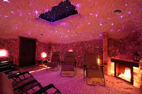 A Salt Room Spa for salt healing sessions