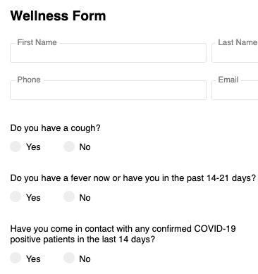 Covid-19 Intake Form