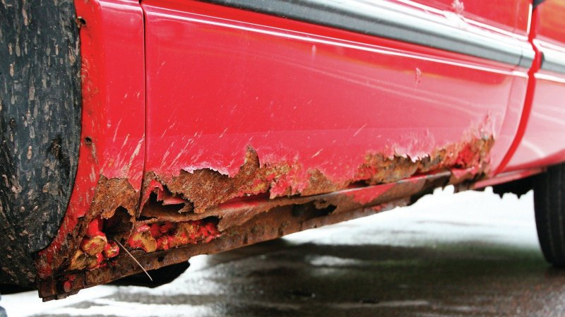 Corrosion caused by road salt