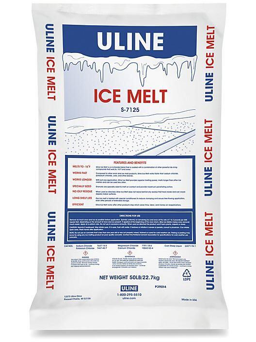 A bag of de-icing salt